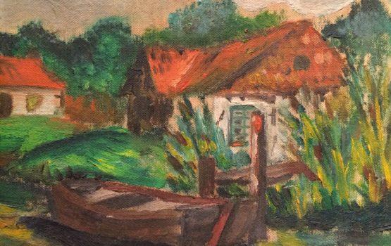 mijn eerste olieverf schilderijtje
